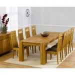 Madrid 240cm Solid Oak Extending Dining Table with Monaco Chairs