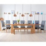 Madrid 200cm Solid Oak Extending Dining Table With Benches And Cannes Chairs