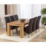 Madrid 200cm Solid Oak Dining Table with Cannes Chairs