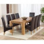 Madrid 240cm Solid Oak Dining Table with Cannes Chairs