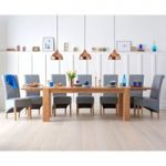 Madrid 200cm Extending Solid Oak Dining Table with Bench and Kentucky Chairs