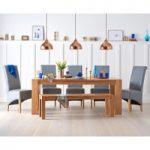 Madrid 200cm Solid Oak Dining Table with Bench and Kentucky Chairs
