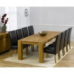 Madrid 240cm Solid Oak Extending Dining Table with Rustique Chairs