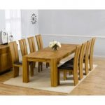 Madrid 240cm Solid Oak Extending Dining Table with Montreal Chairs