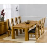 Madrid 240cm Solid Oak Dining Table with Toronto Chairs