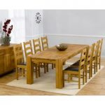 Madrid 240cm Solid Oak Extending Dining Table with Vermont Chairs