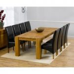 Madrid 240cm Solid Oak Extending Dining Table with Venezia Chairs