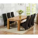 Madrid 200cm Solid Oak Dining Table with Henley Fabric Chairs