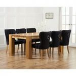 Madrid 240cm Solid Oak Dining Table with Knightsbridge Fabric Chairs