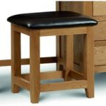 Marlborough Oak & Leather Dressing Table Stool