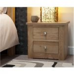 Reno Oak 2 Drawer Bedside Chest