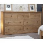 Reno Oak 7 Drawer Wide Chest