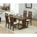 Cavendish 165cm Dark Oak All Sides Extending Table with Monaco Chairs