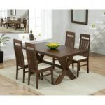 Bordeaux 165cm Dark Oak All Sides Extending Table with Monaco Chairs