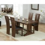 Cavendish 165cm Dark Oak All Sides Extending Table with Montreal Chairs