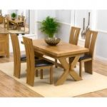 Bordeaux 160cm Solid Oak Extending Dining Table with Montreal Chairs