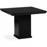 Napoli 100cm Square Black Marble Effect Dining Table