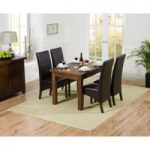 Rustique 120cm Dark Solid Oak Extending Dining Table with WNG Chairs