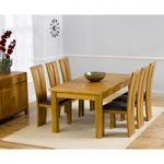 Rustique 180cm Solid Oak Extending Dining Table with Montreal Chairs