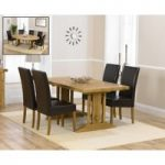 Cavendish 165cm Oak All Sides Extending Table with Rustique Chairs