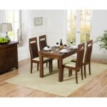 Rustique 120cm Dark Solid Oak Extending Dining Table with Monaco Chairs