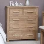 Opus Oak 2 over 3 Chest of Drawers