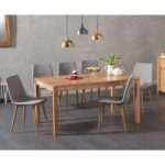Oxford 150cm Solid Oak Dining Table with Hamburg Fabric Chairs