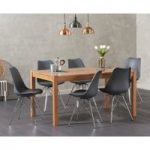 Oxford 150cm Solid Oak Dining Table with Calvin Chrome Leg Chairs