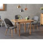 Oxford 70cm Solid Oak Extending Dining Table with Harrogate Faux Leather Chairs