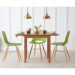 Oxford 70cm Solid Oak Extending Dining Table with Nordic Wooden Leg Chairs