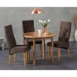 Oxford 90cm Solid Oak Drop Leaf Extending Dining Table with Jasper Chairs
