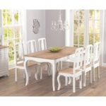Parisian 175cm Shabby Chic Dining Table and Chairs