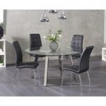 Reagan Round Glass Dining Table with Calgary Chairs