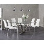 Ray Square Glass Dining Table with Cavello Chairs