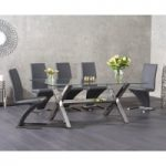 Rexford 200cm Glass Dining Table with Hampstead Chairs