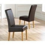 Rustique Bonded Leather Dining Chairs (Pair)