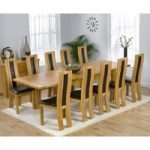 Rustique 180cm Solid Oak Extending Dining Table with Toronto Chairs