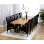 Rustique 180cm Solid Oak Extending Dining Table with Venezia Chairs