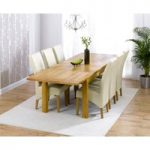 Rustique 180cm Solid Oak Extending Dining Table with Cannes Chairs