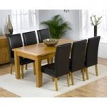 Rustique 180cm Solid Oak Extending Dining Table with Rustique Chairs