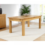 Rustique 180cm Oak Extending Dining Table