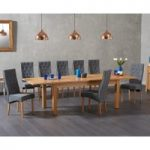 Somerset 180cm Oak Extending Dining Table with Jasper Chairs