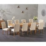 Somerset 180cm Oak Extending Dining Table with Candice Fabric Chairs