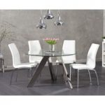 Tabitha 120cm Round Glass Table with Cavello Chairs