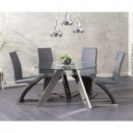 Tabitha 120cm Round Glass Table with Hampstead Chairs