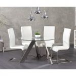 Tabitha 120cm Round Glass Table with Malaga Chairs