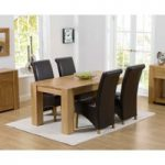 Thames 150cm Oak Dining Table with Kentucky Chairs
