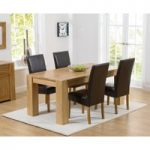 Thames 150cm Oak Dining Table with Rustique Chairs