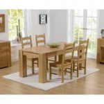 Thames 150cm Oak Dining Table with Vermont Chairs