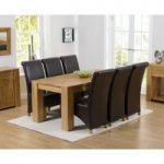 Thames 180cm Oak Dining Table with Kentucky Chairs